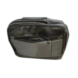 Grey and black Polyester Office Executive Laptop Bag, Capacity: 5-10 Kg