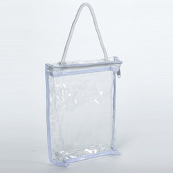 PVC Handle Bag, Size: 8 X 10 X 3 Inch