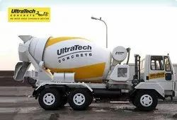 Gray Ultratech Ready Mix Concrete - RMC - Lucknow Only, Packaging Size: 6 Cubic Meter, Grade Standard: M25