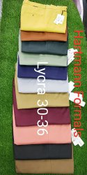 Men Comfort Fit Formal Lycra Trouser, 30-38