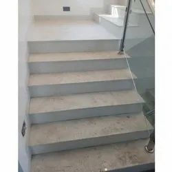 White Marble Staircase Fitting Services