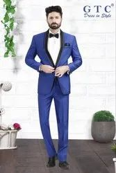 3-piece Suit GTC Blue Full Sleeve Men's Suit, Model: 8052