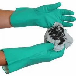 Unisex Green Nitrile Chemical Glove RNF-15