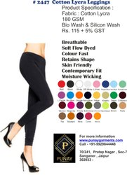 2447 Cotton Lycra Leggings