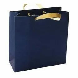 Blue Paper Craft Bag