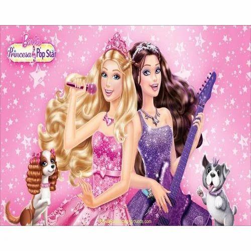 PVC Printed Barbie Design Vertical Wallpaper, Thickness: 150-280 GSM