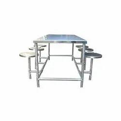 Maruthi Enterprises Polished Stainless Steel Dining Table, Shape: Rectangular