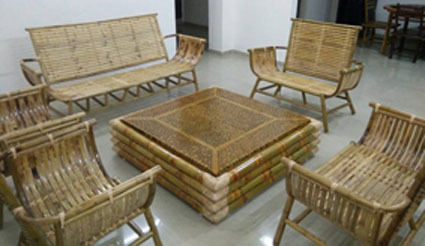 Exceptionnel Bamboo Sofa Set
