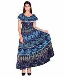 Jaipuri Print Cotton Pumfum Dress