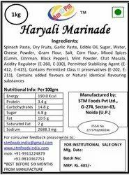 Veggi & Spicy Haryali Marinade, Packaging Size: 1 kg