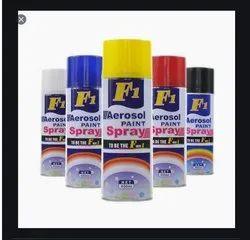 F1 Aerosol Multi Purpose Spray Paint, For Plastic, Packaging Type: Bottle