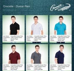 Cotton Male Crocodile T-Shirts With Plain Cluster