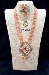 Meenakari Kundan Imitation Jewellery Necklace Earrings Set CL jewellery