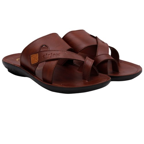 Airfax Daily Wear Mens Leather Slipper, Size: 6-10