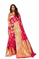 Red Fancy Silk Sarees