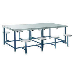 Canteen Stainless Steel and Metal Rectangular Table