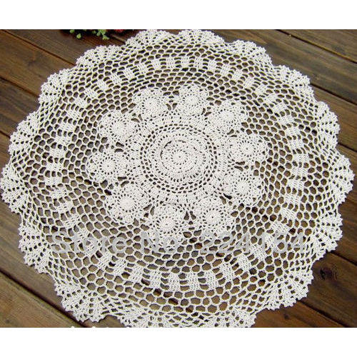 ae4f049cd White Handmade Table Cover