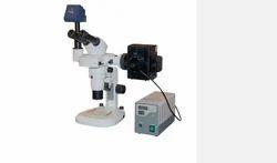 Advanced Stereo Zoom Microscope with Fluorescent Attachment