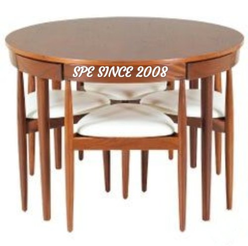 Spe Rubber Wood Space Saving Dining Set 4 Seater 6 Seater Rs 28000 Set Id 22310374048