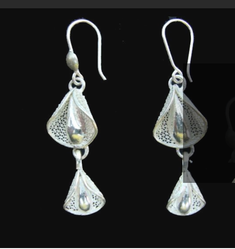 ee99fcd23 Silver Drop Style Black Stone Earring at Rs 99  pair