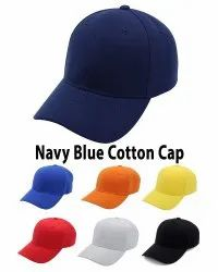Navy Blue Cotton Baseball Caps