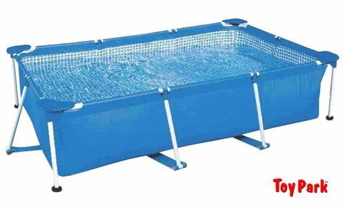 Toy Park Intex 10 ft Rectangular UV Protected Metal Frame Family Swimming Pool 3834L