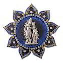 Lord Radha Krishna Blue Wall Hanging Statue