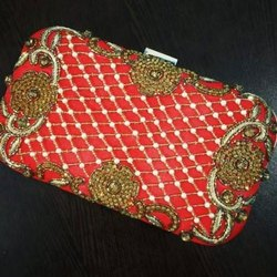 Red Ethnic Party Clutch