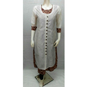Chanderi Jacket Cotton Printed Kurti