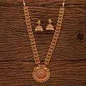 仿古哑光镀金孔雀项链套装200439,规格:长度= 18英寸