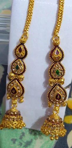 444e8566d Yogiraj Enterprise Chain Base Designer Brass Earring Jhumka, Rs 39 ...