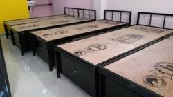 Steel Cot with Storage For Hostel
