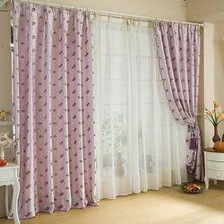 Cotton Printed Designer Curtain, Shape: Vertical
