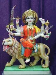 Marble Ma Durga Statue