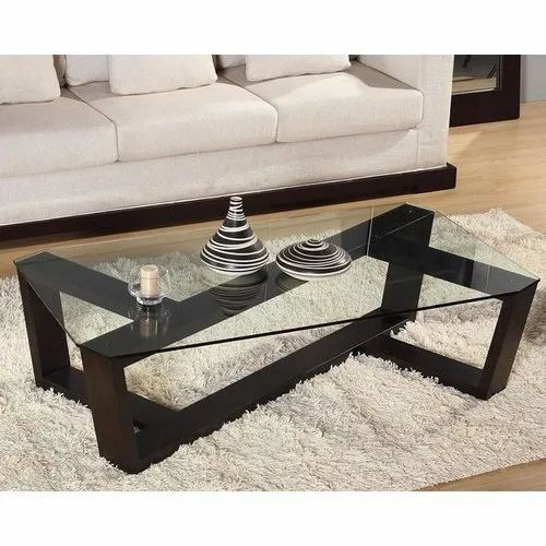 Rectangular Wooden Glass Drawing Room Center Table Warranty 1 Year Rs 15000 Piece Id 20608146091