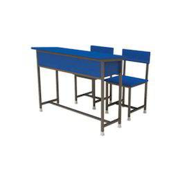 Blue Wooden Classroom Furniture, Seating Capacity: Two