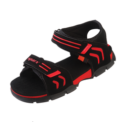 Black, Blue And Orange Sparx Kids Sandals (SS-KIDS 106), Size: 11,1