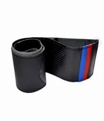 Bmw Style Crabon Finish Leather Steering Wheel Cover