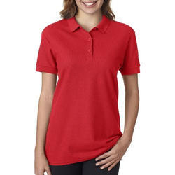 Ladies Red Polo T-Shirts