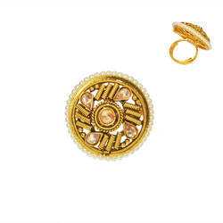 gold plated antique classic ring 14735
