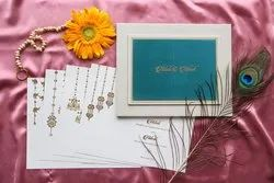 Royal Shaadi Invitaton Card Design for Marriage With Couples Name Electroplated