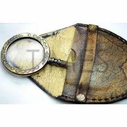 Antique Brass Pocket Magnifying, 13.5 X 5.5 Cm, 126 Gm