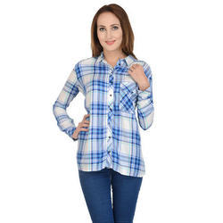 Women Surplus Checked Shirt