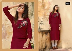 Mirage Vol 2 By Four Buttons Viscose Heavy Embroidery Stylish Kurti