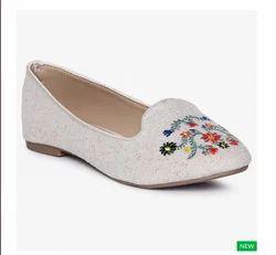 Women Melange Embroidered Slip- On