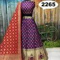 Banarasi Silk Unstitched Designer Lehenga