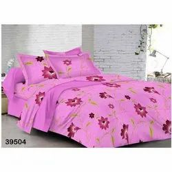 Pink Double Bed Sheet