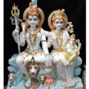 Marble Shiva Parvati Family Statue