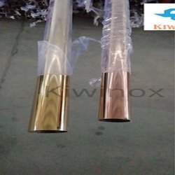 SS Gold Slot Railing Pipe