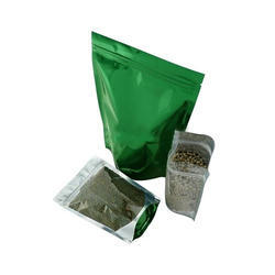 Clear And Green Stand Up Pouches